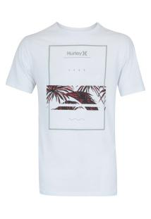 Camiseta Hurley Silk Chasing Paradise - Masculina - Branco