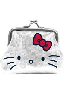 Porta Moedas Branco Em Pu Hello Kitty Urban
