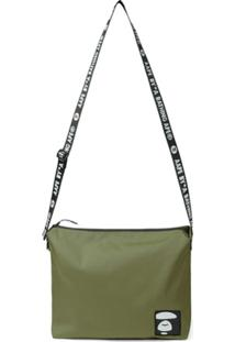 Aape By *A Bathing Ape® Logo Patch Shoulder Bag - Verde