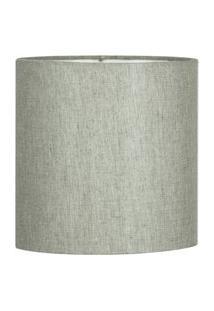 Cúpula Cilindrica De Abajur Tecido Cinza Escuro 15X16Cm