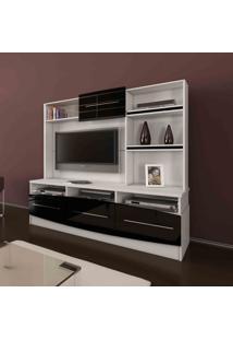 Estante Home Para Tv Nature Belaflex Branco/Preto