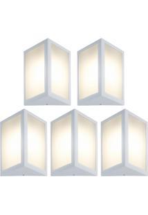 Arandela Triangular Branco Kit Com 5 Casah