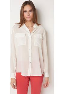 Camisa Le Lis Blanc Lucia Seda Off White Feminina (Off White, 46)