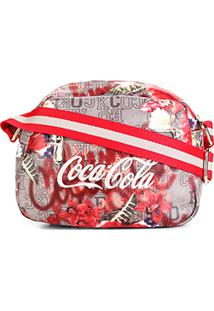 Bolsa Coca-Cola Mini Bag Alça Transversal Estampa Floral Feminina - Masculino
