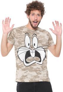 Camiseta Sideway Looney Tunes Pernalonga Bege