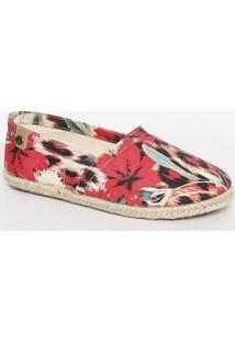 Alpargata Floral Com Sisal- Pink & Begecarmen Steffens