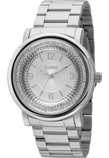 Relógio Euro Feminino Textura Mix Eu2035Ydv/3K - Prata