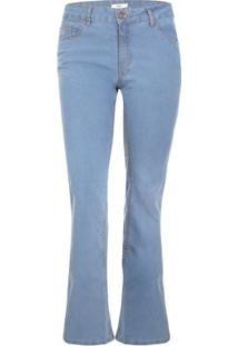 067ee7d29 ... Calça Jeans Boot Cut-Perna Larguinha Azul Claro