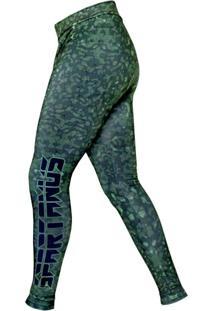 Calça De Compressão Masculino Camouflaged Green