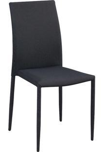 Cadeira Amanda Tecido Cinza Com Preto Rivatti Móveis