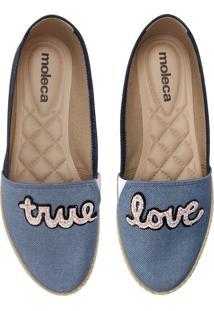 Alpargata Moleca True Love Azul