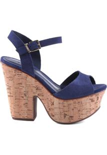 Sandália Cortiça Dress Blue | Schutz