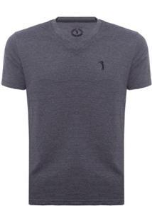 Camiseta Gola V Básica Aleatory Masculina - Masculino-Marinho