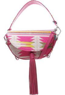 Bolsa Com Barbicacho- Branca & Pinkschutz