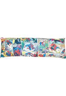 Travesseiro Agarradinho Com Fronha Homem Aranha Comics 130 X 45 Cm