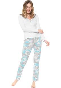 Pijama Malwee Liberta Militar Branco/Verde