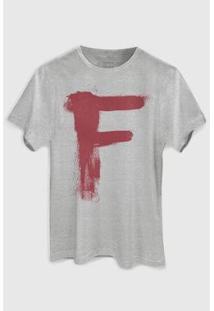 Camiseta Bandup! Capitão Feio Pixel - Masculino-Cinza
