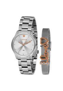Kit Relógio Feminino Lince Analógico Prata - Lrm4668L-Kz98S1S Prata