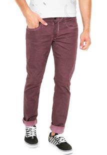 Calça Sarja Calvin Klein Jeans Skinny Comfort Roxa