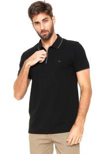 Camisa Polo Aramis Regular Fit Zíper Preta