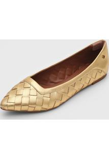 Sapatilha Capodarte Tress㪠Dourada - Dourado - Feminino - Dafiti