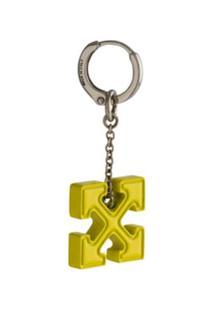 Off-White Brinco Único Keychain - Amarelo