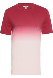Camiseta Masculina Degradê - Vermelho