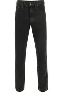 Calça Jeans Pierre Cardin Tradicional Premium Masculina - Masculino-Preto