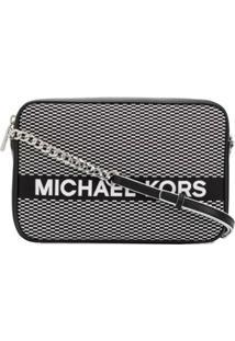Michael Michael Kors Bolsa Tiracolo Com Logo Bordado - Preto