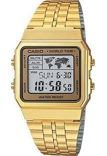 Relógio Casio - A500Wga-9Df - Feminino-Dourado