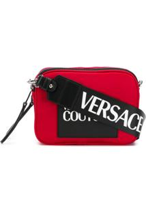 Versace Jeans Couture Bolsa Tiracolo Com Logo Contrastante - Vermelho