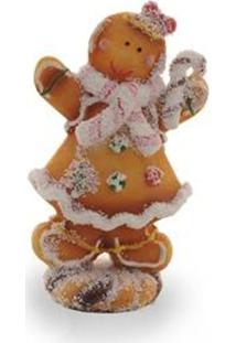 Enfeite Natal Decorativo Boneco Biscoito Com Pirulito 20Cm