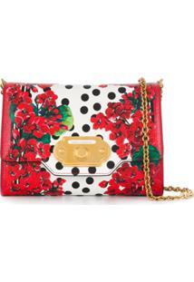Dolce & Gabbana Bolsa Transversal Com Estampa Floral - Vermelho