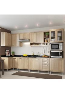 Cozinha Completa 15 Portas 3 Gavetas Para Pia 5830 Argila - Multimóveis