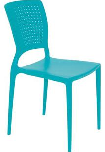 Cadeira Safira- Verde ÁGua- 84,5X43X52Cm- Tramontramontina