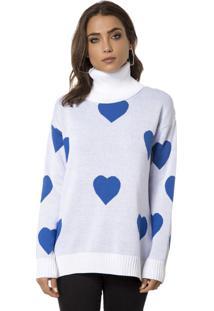 Blusa Myah Duda Coração Azul
