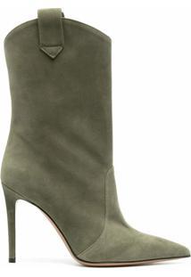 Alexandre Vauthier Wayne 105Mm Ankle Boots - Verde