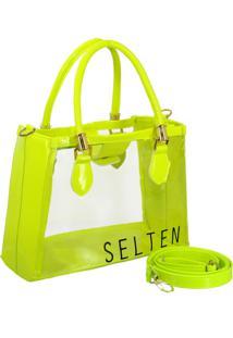 Bolsa Transparente Neon Verde Selten