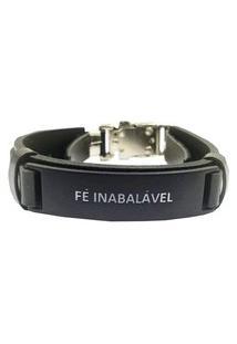 Bracelete Fé Inabalável Preto.