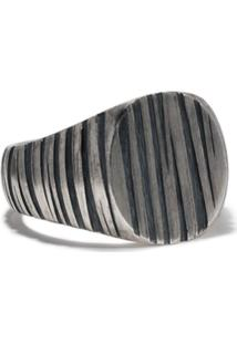 Tom Wood Anel Oval - Silver