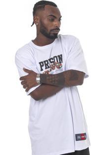 Camiseta Prison Coral Branca