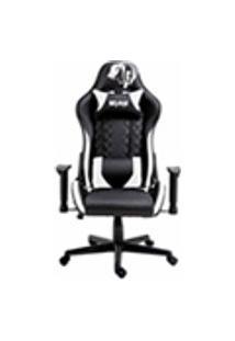 Cadeira Gamer Profissional Snake Mamba Negra Reclinavel Giratoria Preta E Branca 9183