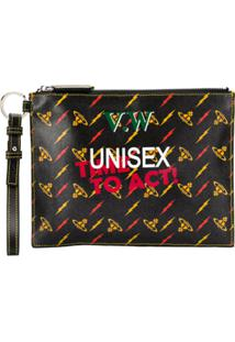 Vivienne Westwood Clutch Unisex Time To Act - Preto