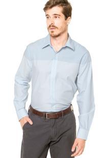 Camisa Perry Ellis Reta Azul