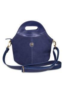 Bolsa Artlux Camurça Azul