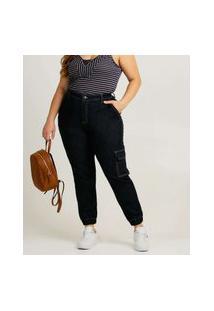 Calça Plus Size Feminina Jogger Cargo