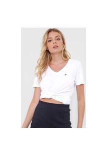 Blusa Calvin Klein Jeans Slim Logo Branca