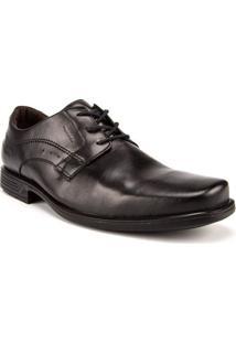 Sapato Social Masculino Pegada Com Cadarço Preto