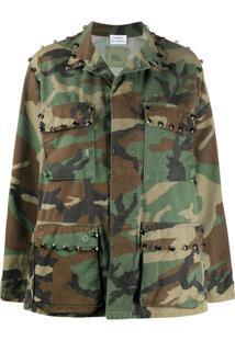 P.A.R.O.S.H. Jaqueta Commando Com Estampa Camuflada - Verde