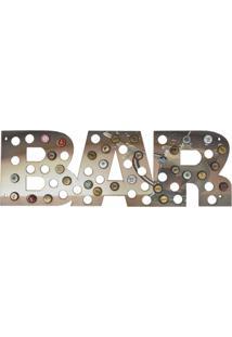 Quadro Porta Tampinhas D'Rossi Mdf Caneca 25X75 Bar - Bege - Dafiti